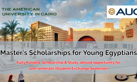 Fully Funded Master's Scholarships 2020 for Young Egyptians