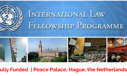 United Nations Fellowship 2020 in the Hague, Netherlands [Fully Funded]