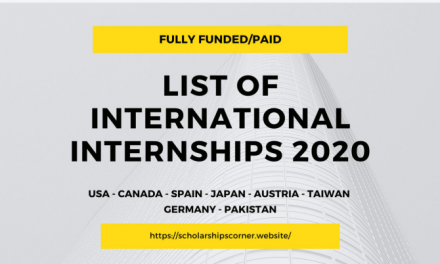 List of International Internships 2020 – Fully Funded & Paid (Updated List)