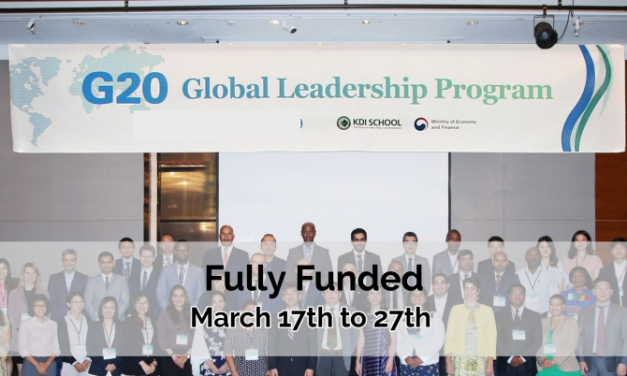 G20 Global Leadership Program 2020 in South Korea [Fully Funded]