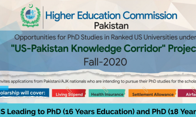 Study in the USA-US Pakistan Knowledge Corridor Scholarships