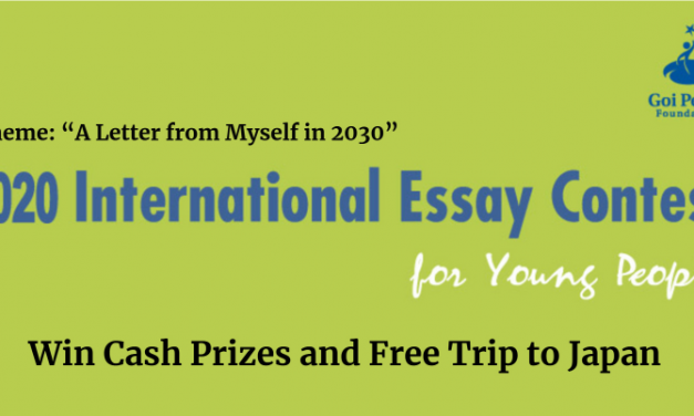 International Essay Contest Japan 2020 – Cash Prizes & Free Trip to Japan