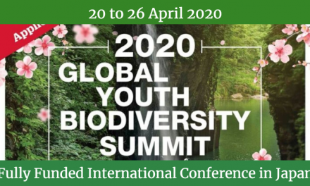 Global Youth Biodiversity Summit 2020 in Japan – Fully Funded
