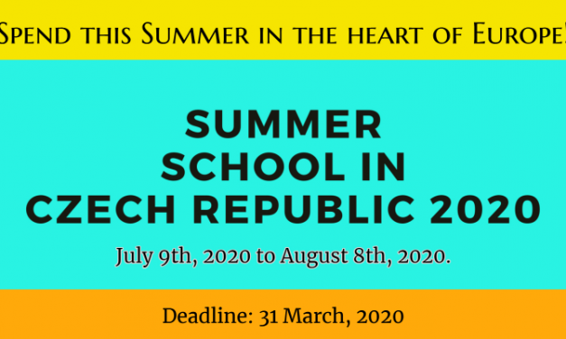 Summer School in Czech Republic 2020 at University of Pardubice