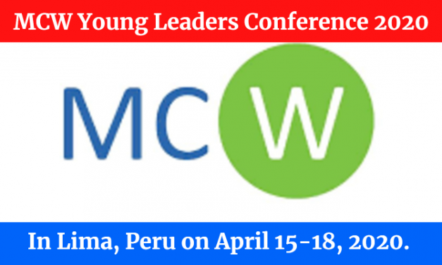MCW Young Leaders Conference 2020 in Peru – Paid Conference