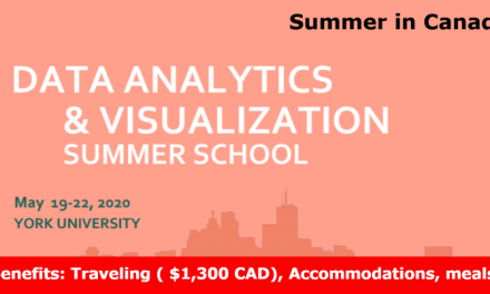 Summer School Canada 2020 – Funded (Travel, Accommodation, Meals)