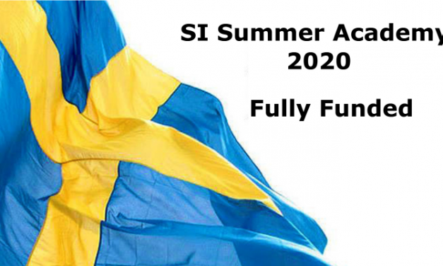SI Summer Academy 2020 in Sweden [Fully Funded]