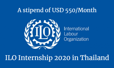 ILO Internship 2020 in Thailand – A stipend of USD 550/Month