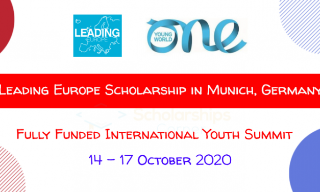 Leading Europe Scholarship to attend One One Young World Summit 2020 [Fully Funded]