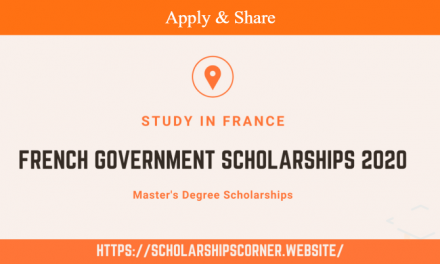 French Government Scholarships for International Students 2020-21