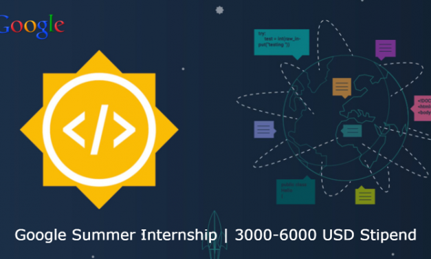Google Summer Internship 2020 | Stipend 3000 – 6000 USD