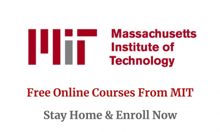 MIT Free Online Courses (Verified Courses) – Stay Home and Enroll Now