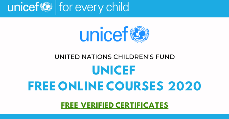 UNICEF Online Courses with Free Certificates [Free Courses]