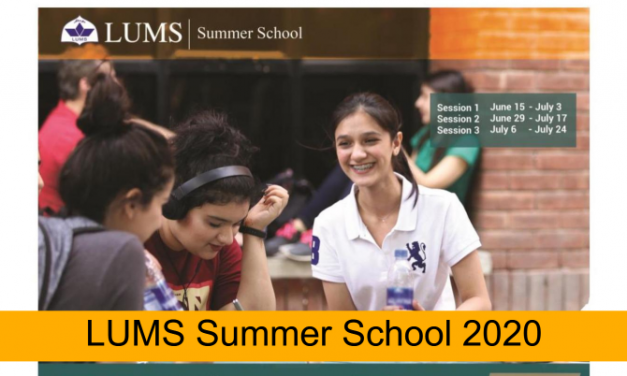 LUMS Summer School 2020 – Registrations Open Now