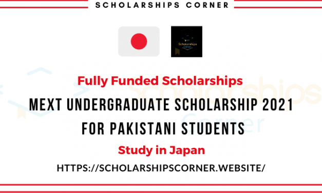 Mext Undergraduate Scholarship 2021 for Pakistani Students [Fully Funded] Japanese Government Scholarship