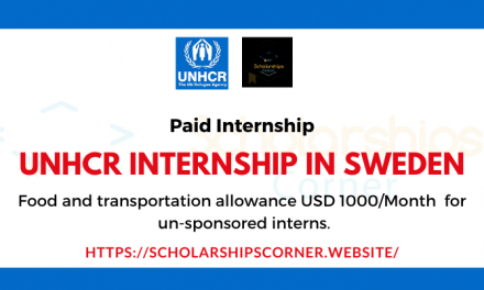 UNHCR Internship 2020-21 in Sweden | Paid Internship in Europe