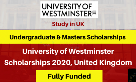 University of Westminster Scholarship 2020 in London, UK [Fully Funded]