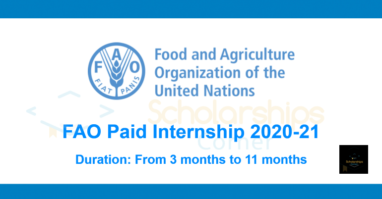 FAO Paid Internship 2020-21 | UN Internship Opportunities