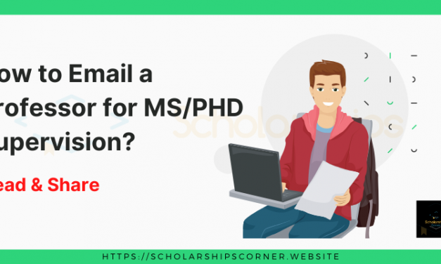 How to Email a Professor for the Supervision in MS/PhD