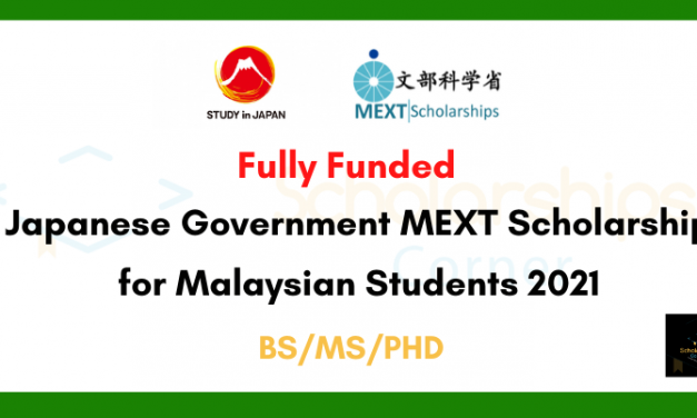 Japanese Government MEXT Scholarship for Malaysian Students 2021