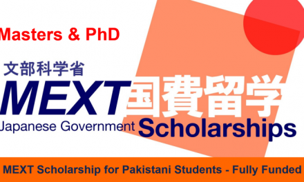 MEXT Research Scholarship For Pakistani Students 2021 – Fully Funded