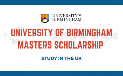 University of Birmingham Masters Scholarship 2020-21 in the UK