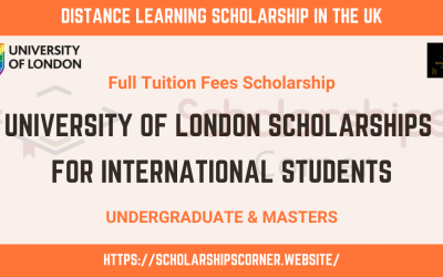 University of London Scholarship 2020 in the UK