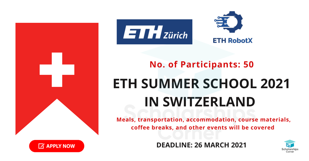 ETH Summer School 2021 in Switzerland | 04 – 09 July 2021